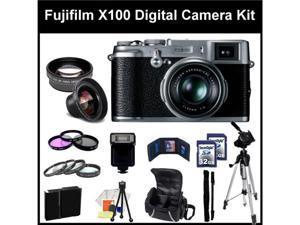 Fujifilm X100 Digital SLR Camera Kit. - 16128244- Also Includes: 0.45X Wide Angle Lens, 2X Telephoto, 3 Piece Filter Kit(UV-CPL-FLD), ...