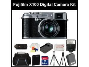 Fujifilm X100 Digital Camera Kit Includes: Fujifilm X-100 Camera, Extended Life Replacement Battery, Rapid Travel Charger, ...