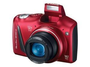 Canon PowerShot SX150 IS Red 14.1 MP 28mm Wide Angle Digital Camera