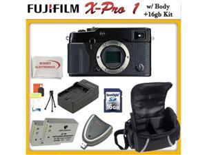 Fujifilm X-Pro 1 16MP Digital Camera with APS-C X-Trans CMOS Sensor Body Only & SSE 16gb Adventure Bundle