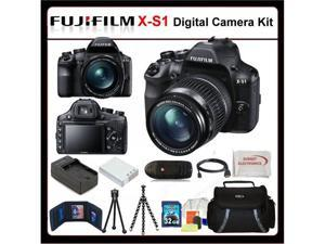 Fujifilm X-S1 Kit Includes: Fujifilm XS1 Digital Camera, Extended Life Battery, Rapid Travel Charger, 32GB SDHC Memory Card, ...
