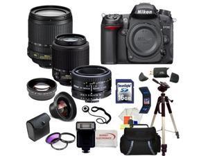 Nikon D7000 16.2MP CMOS Digital SLR w/ Nikon 18-105mm ED VR AF-S DX Nikkor Autofocus Lens & Nikkor 50mm f/1.8D Autofocus ...