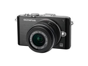Olympus Pen E-PL3 Compact System Camera - Black (M.ZUIKO Digital 14 -42mm II R Lens Kit)
