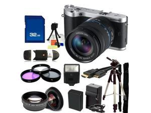 Samsung NX300 Mirrorless Digital Camera with 18-55mm f/3.5-5.6 OIS Lens (Black). Includes 0.45X Wide Angle Lens, 2X Telephoto, ...