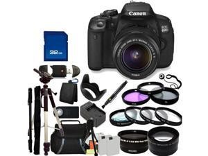 Canon 650D / EOS Rebel T4i Digital Camera with EF-S 18-55mm  IS II Len. Includes: Wide Angle & Telephoto Lenses, 3 Piece ...