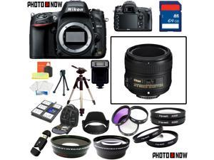 Nikon D600 24.3MP FX-Format DSLR Camera (Body Only) With Nikon AF-S Nikkor 50mm f/1.8G Lens & Deluxe Lens Accessory Package ...