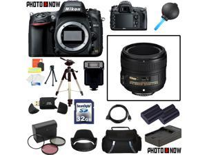 Nikon D600 24.3MP FX-Format DSLR Camera (Body Only) With Nikon AF-S Nikkor 50mm f/1.8G Lens & Deluxe Beginners Accessory ...