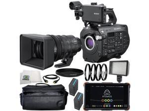 Sony PXW-FS7M2 4K XDCAM Super 35 Camcorder Kit with 18-110mm Zoom Lens and Atomos Ninja Flame 11PC Accessory Bundle – Includes 2x Replacement Batteries + 160 LED Video Light + MORE
