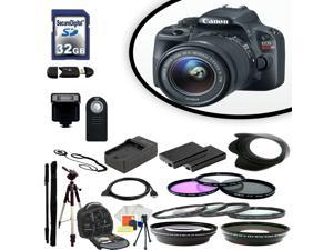 Canon EOS SL1 Digital SLR Camera With 18-55mm IS STM Lens & Ultimate Accessory Bundle