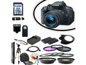 Canon EOS Rebel T5i Digital SLR Camera With 18-55mm Lens & Ultimate Accessory Bundle