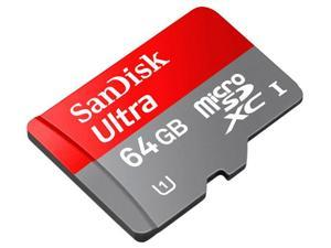 SanDisk 64GB Micro SDHC Flash Card w/ Adapter Model SDSDQUA-064G