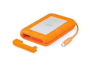 "LaCie 500GB Thunderbolt USB3.0 Rugged Dual Interface 2.5"" SSD Mobile Solid State Drive Model STEZ500400"