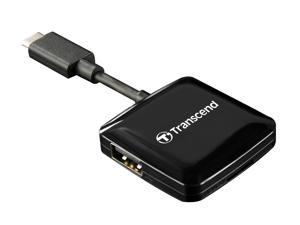 Transcend RDC2 USB 3.0 Type C 3.1 Gen1 microSD, SD, USB Slots Smart Card Reader Model TS-RDC2K