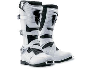 Thor Ratchet Motorcycle Off-Road Boot White Size 9