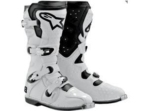 Alpinestars Tech 8 Light White Off-Road Motocross Boots Eur 43 US 9