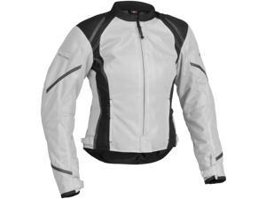 Firstgear Mesh-Tex Womens Motorcycle Jacket Silver XXX-Large