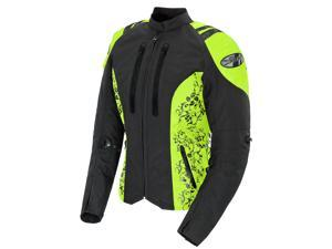Joe Rocket Atomic 4.0 Motorcycle /Hi-Viz Neon Jacket Black Size X-Large