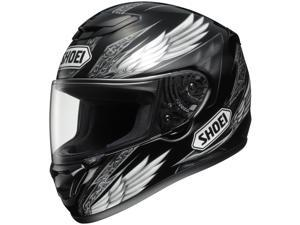 Shoei Qwest Ascend Full face Street Motorcycle Helmet Black White Size Small