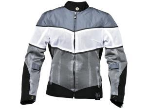 Power Trip Lola Motorcycle Gray / Jacket White Size Small