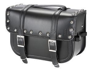 Power Trip Motorcycle Legend Saddle Bag - Straight Uni Black/Braided & Studded Size Large