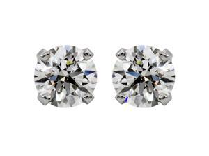 5/8 Ct.TDW. Round Diamond 14k White Gold Stud Earrings (H-I, I1)