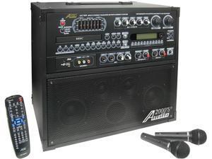 Audio 2000 AKJ7809 Singer's Power IX 100W Recordable All-In-One Karaoke Machine / PA System