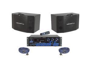 Vocopro KRS-3 300W Digital Karaoke Mixing Amplifier with Speaker Package