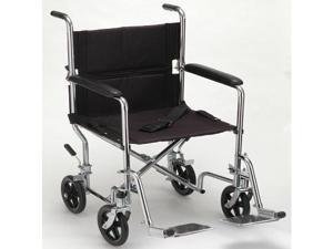"""NOVA 17"""" Lightweight Transport Wheelchair Folding New"""