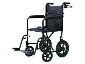 Lightweight Transport Chair Wheelchair with Hand Brakes