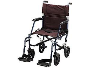 NOVA 17 lb. Ultra Lightweight Transport Wheelchair Blue