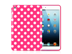 Minisuit Polka Dot Soft Rubberized Case Cover for iPad Mini 2012 Release (Magenta Pink)