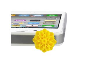 MiniSuit Universal Cell Phone Dustplug for 3.5mm Earphone Jack Cap (Yellow Flower)