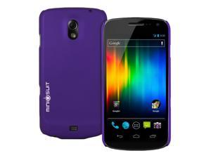 MiniSuit AT&T Samsung Galaxy Nexus Matte Hard Rubber Case (Purple). LCD Cleaner Included