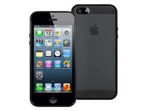 Pastel Case for iPhone 5/5S - Clear Back with TPU Trim (Black)