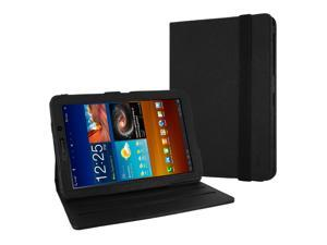 "MiniSuit Samsung Galaxy Tab 7.7"" Inch P6800 Folio 360 Rotating 2-in-1 PU Leather Case and Cover (Black). LCD Cleaner Included"