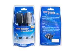 HDMI Cable Extender over Cat5e/Cat6 Cables Extends to 100ft - HD 1080P