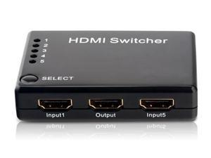 HDMI V1.3b 5x1 5 to 1 1080P Splitter 5 in 1 out for HDTVs, HD-DVDs, Blu-ray players, Xbox 360, Playstation 3/PS3