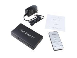 5 Port HDMI v1.3b Switch Switcher Splitter Selector 1080P + Remote Control