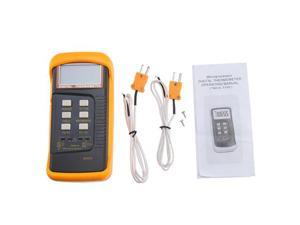 Dual Two Channel Digital Thermometer 2 K-Type Thermocouple Sensor