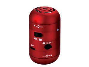 Mini Tweaker Mobile Speaker for iPod iPad iPhone, PC/Laptop/Mac, MP3/MP4 Player - Red