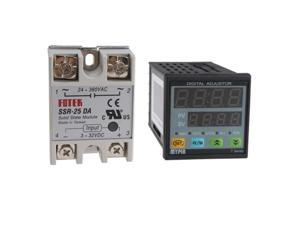 Fahrenheit(F) / Celsius(C) Dual PID Temperature Controller Thermocouple TD4-SNR & Solid State Relay SSR-25 DA - Thermocouple: ...