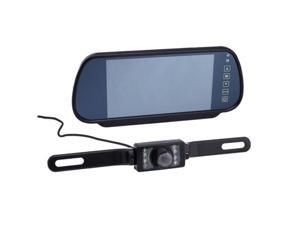 "AGPtek 7"" -inch TFT LCD Color Screen Car Monitor w/ Rear View Video Backup Camera (Color CMOS/ 120-170 degree Wide Angle)"