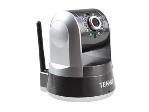 Tenvis IPRobot 3 P2P H.264 Wireless Indoor Camera - IR, Wi-Fi, CMOS, 5X Digital Zoom, 10M Night Vision (Black)