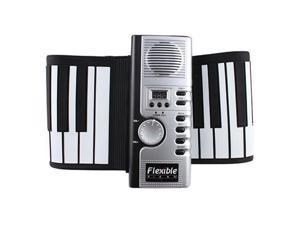 Portable Electric Digital Roll up 61 Keys Flexible Foldable Soft Keyboard Piano