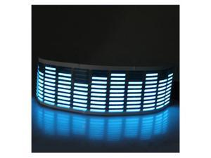 45 x 11CM Sound Activated Music Rhythm Blue LED Light Lamp Equalizer - Car Sticker