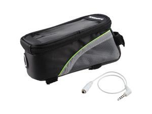 ROSWHEEL® Cycling Bike  Bicycle Frame Pannier Front Tube Bag w/ Headphone Jack for Cell Phone Green