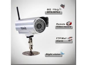 Tenvis IP602W Waterproof Indoor Outdoor Wi-Fi Wireless/Wired IP Camera IR 30 LED 6MM Len CCTV Monitor