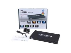 8 Port 1x8 1 In 8 Out HDMI Splitter Switch 1080P