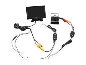 "7"" -inch TFT LCD Rear View Monior + Wireless Night Vision Car Reverse Backup Camera Kit"
