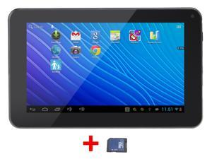 "AGPtek® 7"" Tablet PC - [ARM Cortex A9, 1.5GHz, Dual Core, 512MB Memory, 4GB, Mali-400, 1080P HDMI] w/ 8GB TF Card"